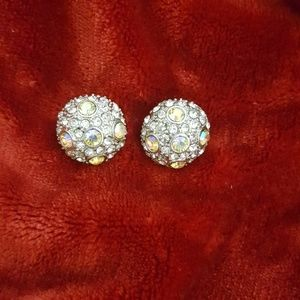 Vintage Crystal Earrings Pierced